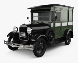 Ford Model A Delivery Truck 1931 3D model