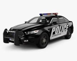 Ford Taurus Police Interceptor Sedan with HQ interior 2013 3D model