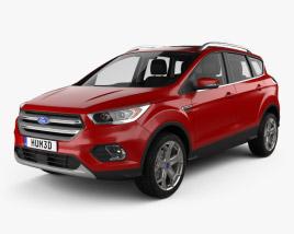 Ford Escape Titanium with HQ interior 2017 3D model