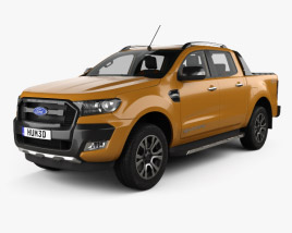 Ford Ranger Double Cab Wildtrak with HQ interior 2016 3D model