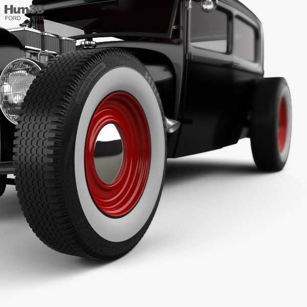 Ford Model A Hot Rod 2016 3D model