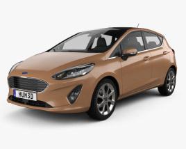 Ford Fiesta Titanium 2017 3D model