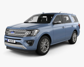 Ford Expedition Platinum 2017 3D model