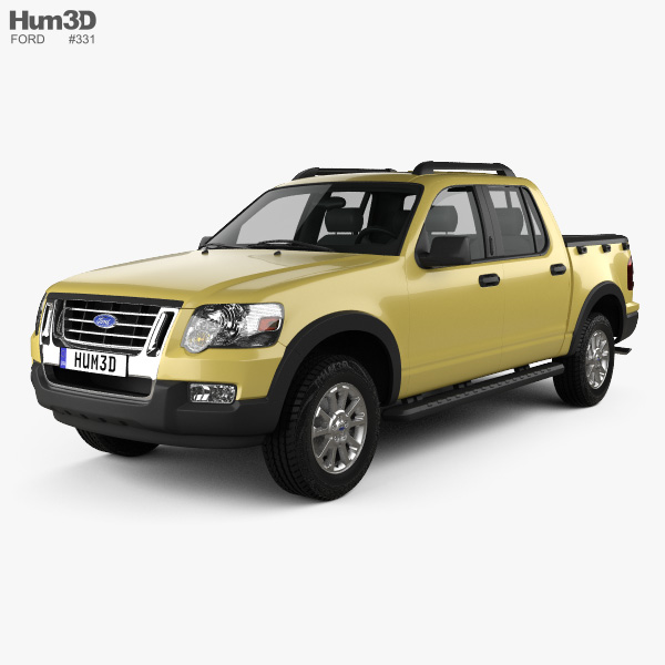 Ford Sports Car Models: Ford Explorer Sport Trac 2006 3D Model