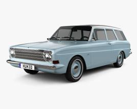 Ford Taunus (P6) 12M station wagon 1967 3D model