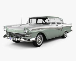 Ford Custom 300 Fordor sedan 1957 3D model