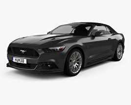Ford Mustang GT EU-spec convertible 2015 3D model