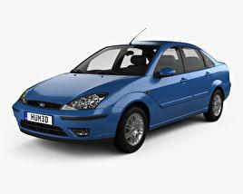 Ford Focus sedan 2002 3D model