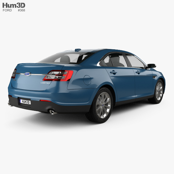 ford taurus limited 2013 3d model hum3d. Black Bedroom Furniture Sets. Home Design Ideas