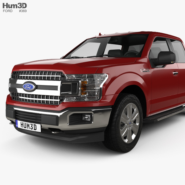 ford f 150 super crew cab xlt 2017 3d model hum3d. Black Bedroom Furniture Sets. Home Design Ideas