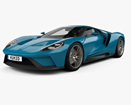 Ford GT concept with HQ interior 2015 3D model