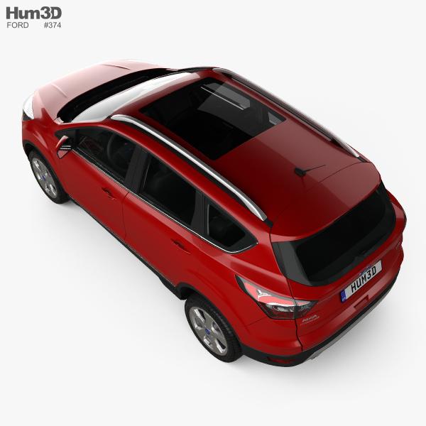 ford kuga titanium with hq interior 2017 3d model hum3d. Black Bedroom Furniture Sets. Home Design Ideas