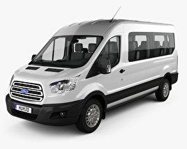 Ford Transit Passenger Van L2H2 with HQ interior 2014 3D model