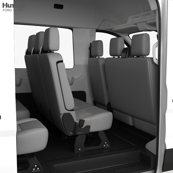 Ford Transit Passenger Van L2H2 With HQ Interior 2014 3D