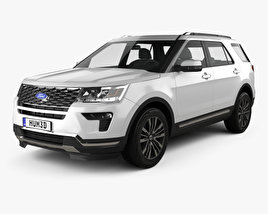 Ford Explorer (U502) Platinum 2018 3D model