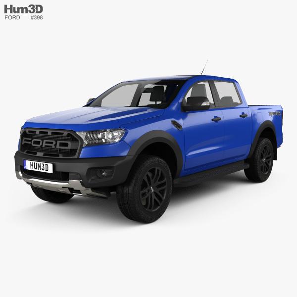 Ford Ranger Double Cab >> Ford Ranger Double Cab Raptor 2018 3d Model Vehicles On Hum3d