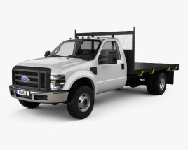 Ford F-350 Regular Cab Flatbed with HQ interior 2010 3D model