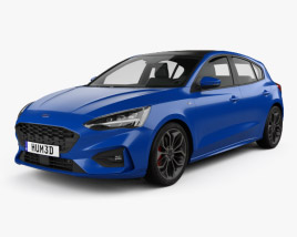 Ford Focus ST-Line hatchback 2018 3D model
