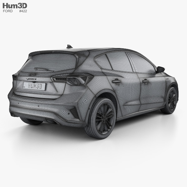 Ford Focus Vignale Hatchback 2018 3d Model