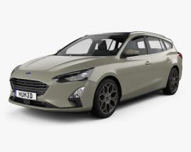 Ford Focus Titanium turnier 2018 3D model