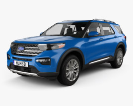 Ford Explorer Limited Hybrid 2020 3D model