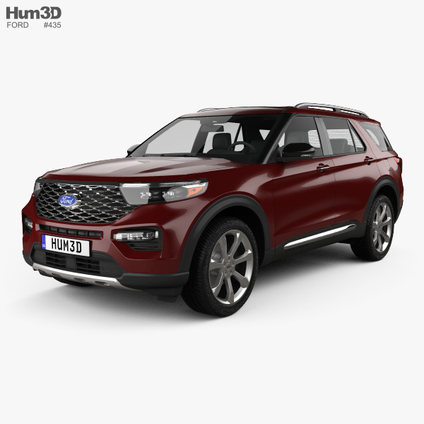 Ford Explorer Platinum 2019 3D Model