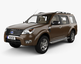 Ford Everest with HQ interior 2012 3D model