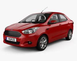 Ford Figo Aspire with HQ interior 2015 3D model