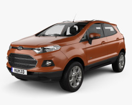 Ford Ecosport Titanium with HQ interior 2013 3D model