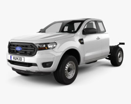 Ford Ranger Super Cab Chassis XL 2018 3D model