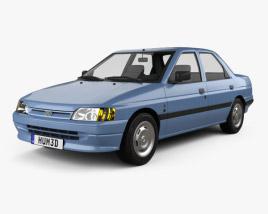 Ford Escort Ghia 5-door hatchback 1990 3D model