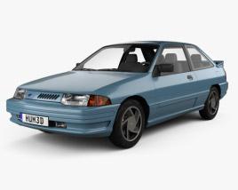 Ford Escort GT hatchback 1992 3D model