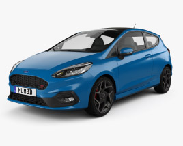 Ford Fiesta 3-door ST 2019 3D model