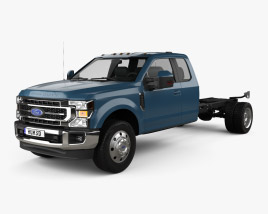 Ford F-550 Super Duty Super Cab Chassis Lariat 2020 3D model