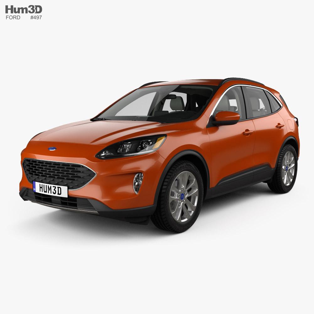 Ford Escape SE with HQ interior 2020 3d model