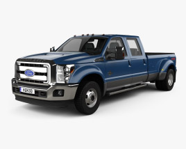 Ford F-450 SuperDuty Crew Cab Dually Lariat 2015 3D model