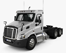 Freightliner Cascadia Day Cab Tractor Truck 2007 3D model