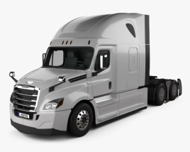 Freightliner Cascadia 126BBC 72 Sleeper Cab Raised Roof AeroX Tractor Truck 2018 3D model