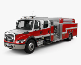 Freightliner M2 106 Crew Cab Fire Truck 2017 3D model