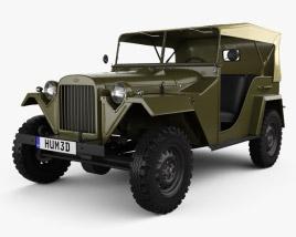 GAZ-67 1943 3D model