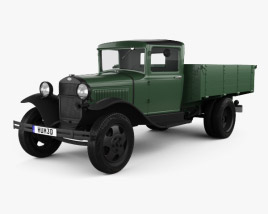 GAZ-AA Flatbed Truck 1932 3D model