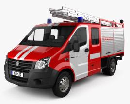 GAZ Gazelle Next Fire Truck 2017 3D model