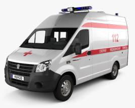 GAZ Gazelle Next Ambulance Luidor 2018 3D model