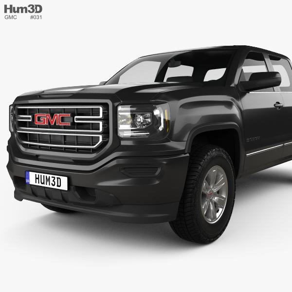 gmc sierra 1500 sle crew cab short box 2017 3d model hum3d. Black Bedroom Furniture Sets. Home Design Ideas