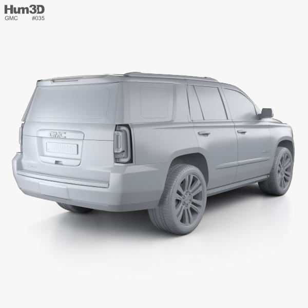 gmc yukon denali with hq interior 2014 3d model hum3d