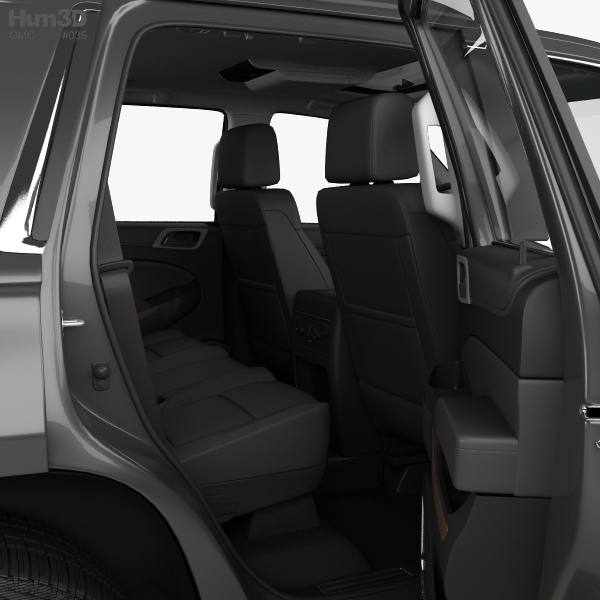GMC Yukon Denali With HQ Interior 2014 3D Model