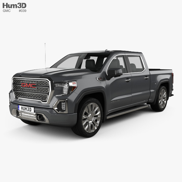 GMC Sierra 1500 Crew Cab Short Box Denali 2019 3D model ...