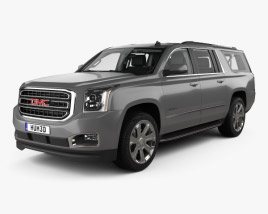 GMC Yukon XL with HQ interior 2014 3D model