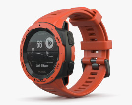 Garmin Instinct Solar Flame Red 3D model