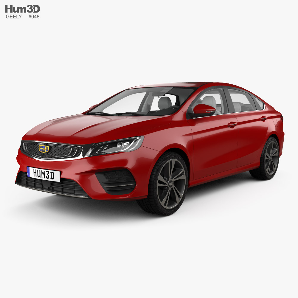 Geely BinRui with HQ interior 2018 3d model
